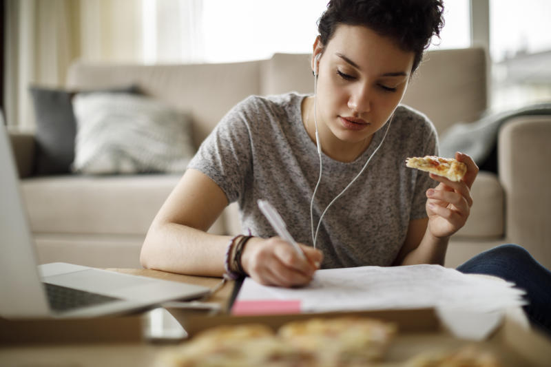 A new report has revealed how teenagers eating habits have changed during lockdown. (Getty Images)