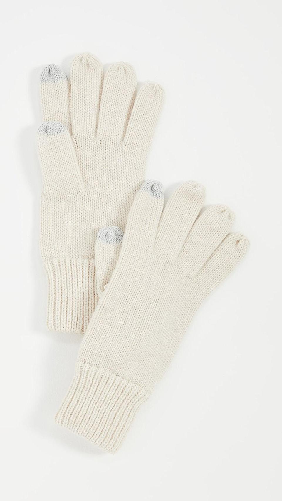 <p>These <span>Hat Attack Basic Texting Gloves</span> ($43) will be essential all winter.</p>