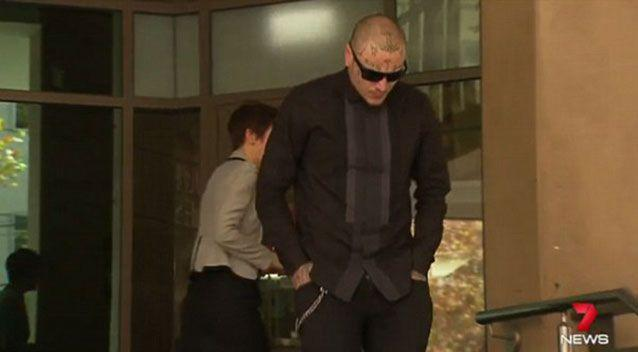 Sasho Ristovski leaves court. Source: 7News