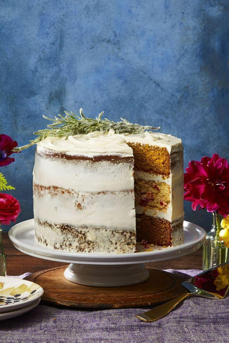 """<p>If his favorite holiday is Thanksgiving, pay tribute with this layered cake featuring pumpkin, cranberry, and pecan flavors smothered in cream cheese frosting.</p><p><a href=""""https://www.womansday.com/food-recipes/food-drinks/a24185611/thanksgiving-cake-recipe/"""" rel=""""nofollow noopener"""" target=""""_blank"""" data-ylk=""""slk:Get the Thanksgiving Cake recipe."""" class=""""link rapid-noclick-resp""""><em><strong>Get the Thanksgiving Cake recipe.</strong></em></a></p>"""