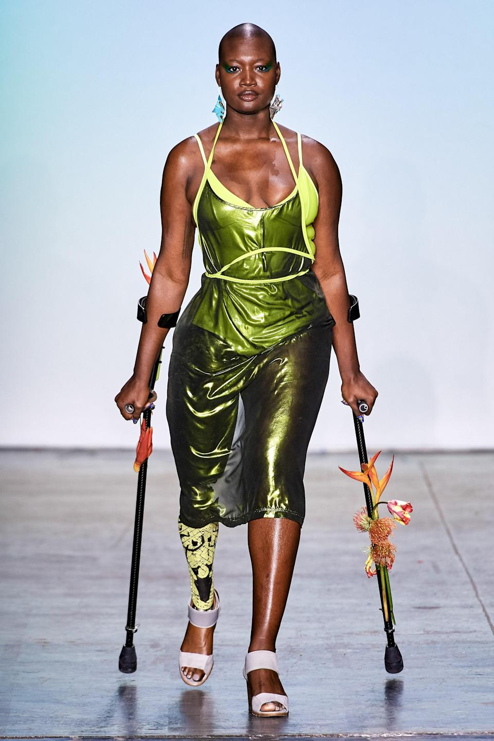 Mama Cax in Chromat's fall 2019 show
