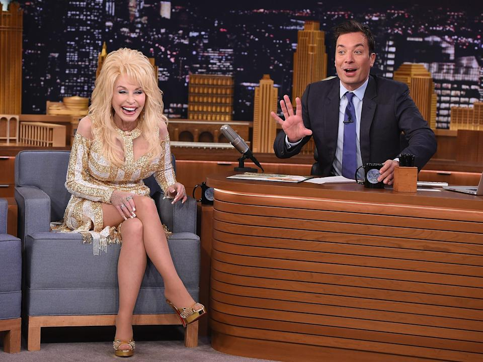 """Dolly Parton visits """"The Tonight Show."""""""