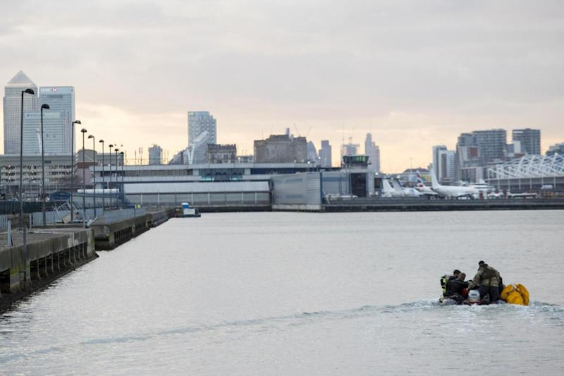 The bomb was moved into the Thames estuary ahead of a controlled explosion on Tuesday morning (PA)