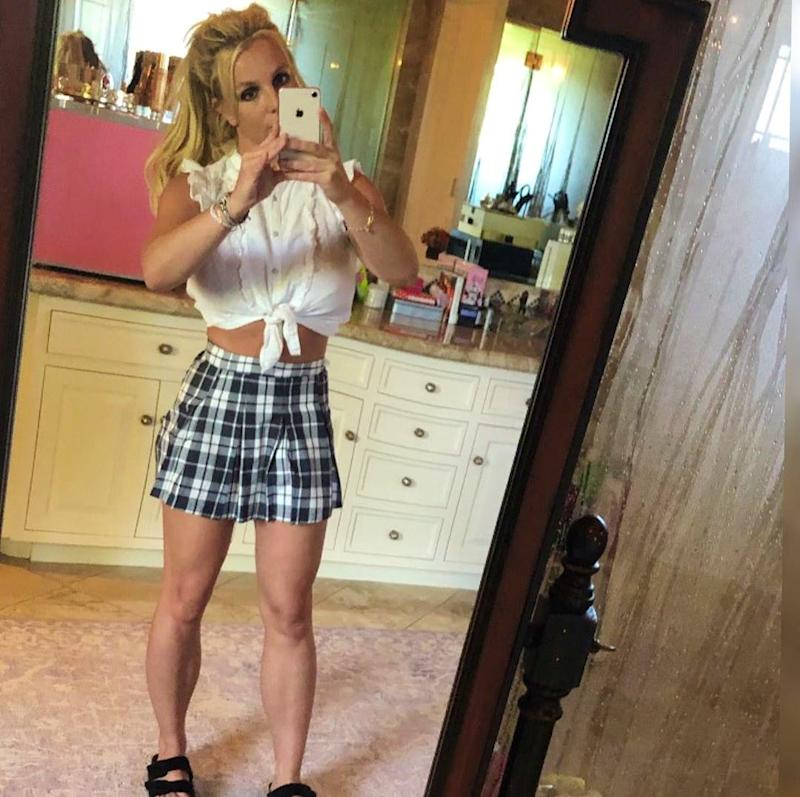 Is Britney Spears Channeling Her Inner Schoolgirl With This Look?