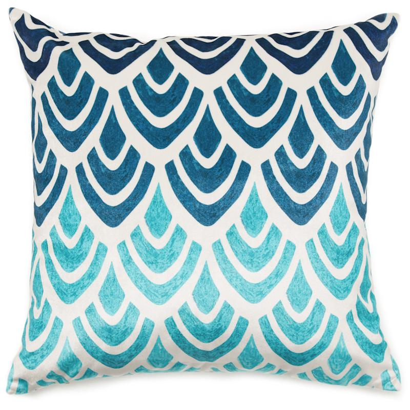 MoDRN Glam Blue Art Deco Decorative Throw Pillow (Photo: Walmart)