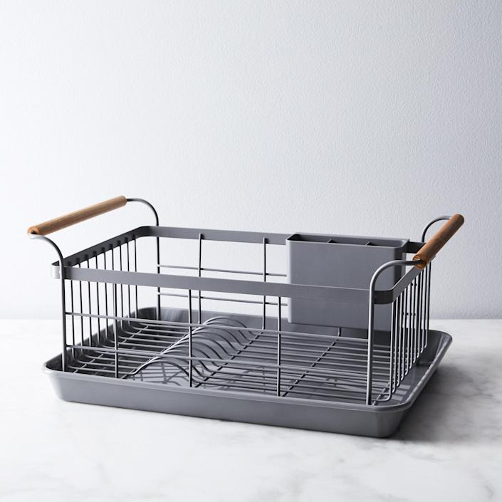 "$78, Food52. <a href=""https://food52.com/shop/products/3063-wood-handled-dish-rack"" rel=""nofollow noopener"" target=""_blank"" data-ylk=""slk:Get it now!"" class=""link rapid-noclick-resp"">Get it now!</a>"