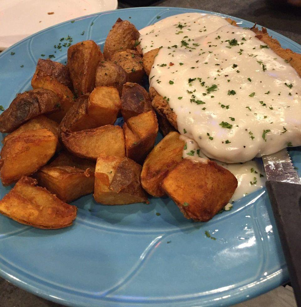 """<p><a href=""""https://www.yelp.com/biz/city-cafe-diner-chattanooga-2"""" rel=""""nofollow noopener"""" target=""""_blank"""" data-ylk=""""slk:City Cafe Diner"""" class=""""link rapid-noclick-resp"""">City Cafe Diner</a> in Chattanooga</p><p>The menu here combines a little bit of everything — American, Greek, Mexican and beyond. You can order fajitas, fettuccine, paninis, salads, soups and beyond in the same place, and finish it off with a slice of Milky Way Cake or tiramisu.</p>"""