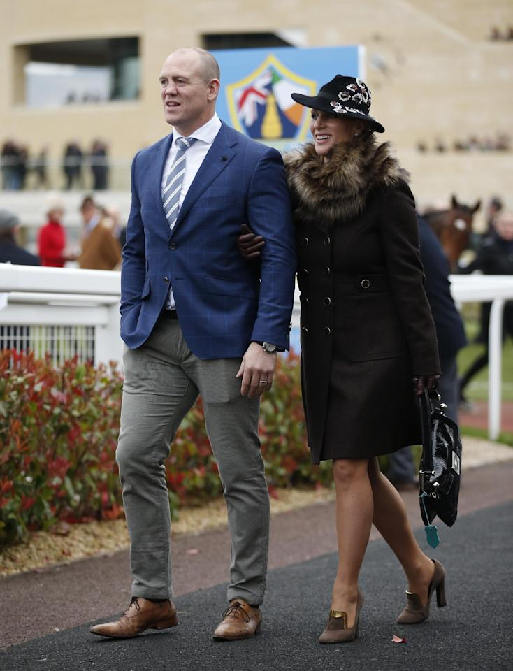 Britain Horse Racing - Cheltenham Festival - Cheltenham Racecourse - 16/3/17 Zara Phillips and husband Mike Tindall during the Cheltenham Festival Action Images via Reuters / Matthew Childs Livepic EDITORIAL USE ONLY.