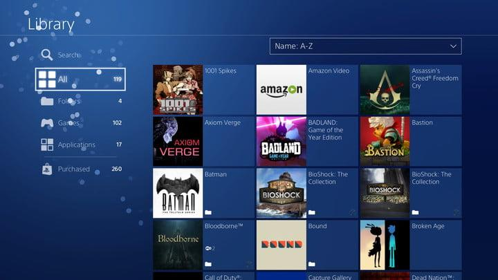 how to organize ps4 game library 20180110122616