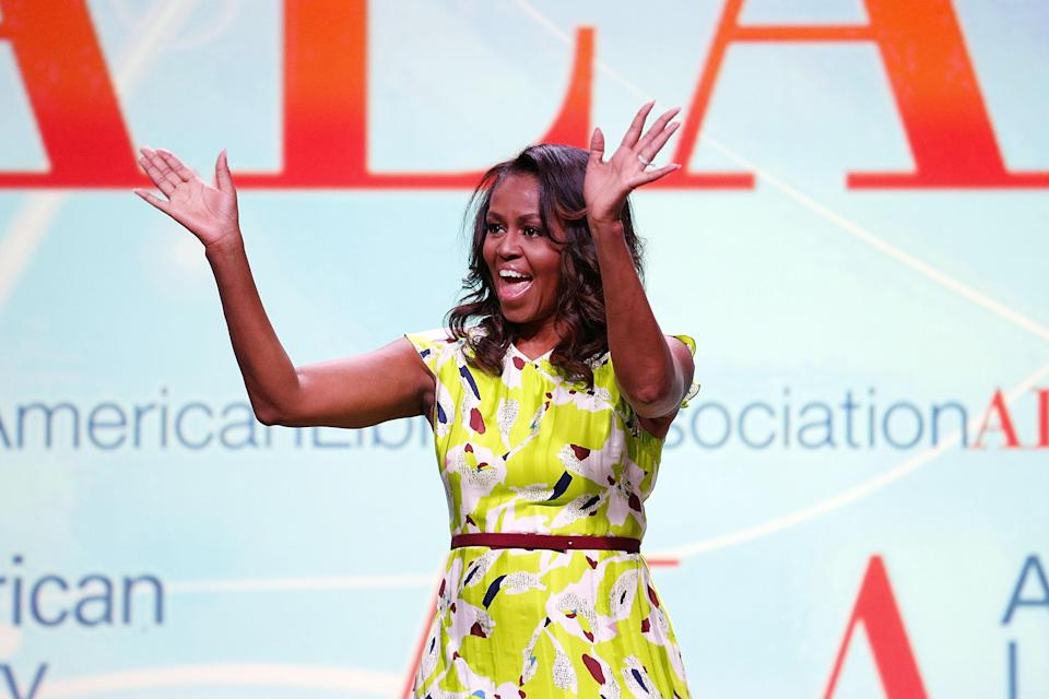 Michelle Obama was a featured guest at the 2018 American Library Association Annual Conference. (Photo: Getty Images)