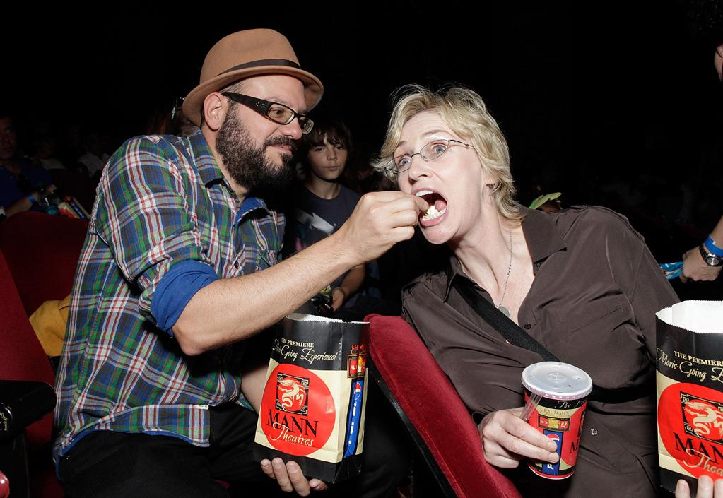 """<a href=""""http://movies.yahoo.com/movie/contributor/1800343908"""">David Cross</a> and <a href=""""http://movies.yahoo.com/movie/contributor/1802866092"""">Jane Lynch</a> at the Los Angeles premiere of <a href=""""http://movies.yahoo.com/movie/1809998238/info"""">Megamind</a> on October 30, 2010."""