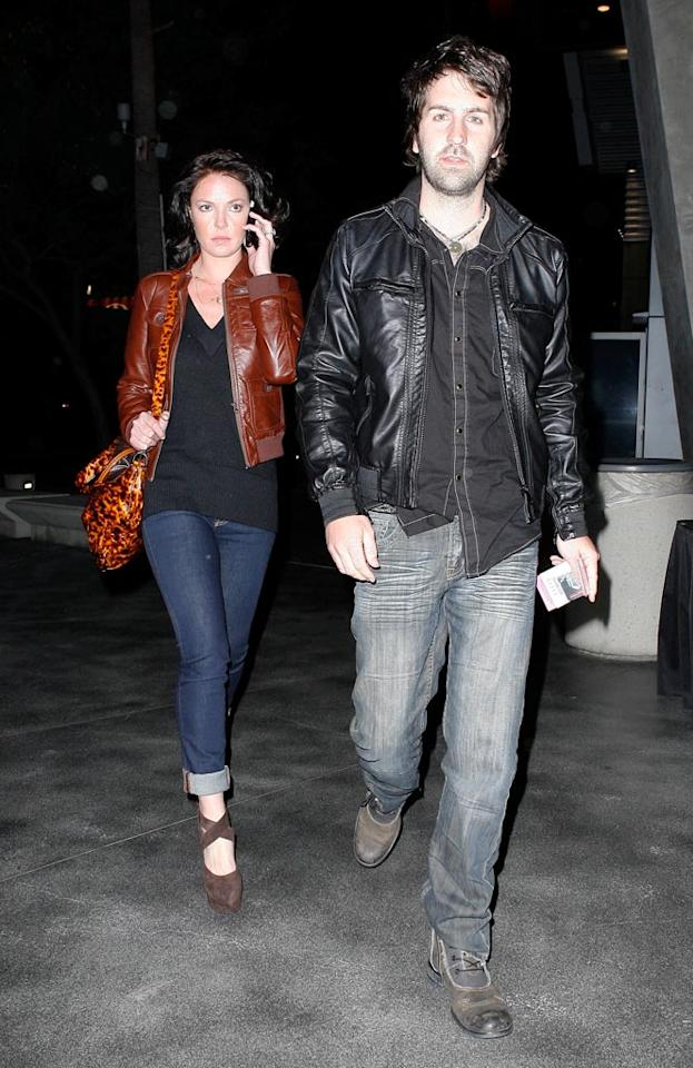 """Katherine Heigl and her hubby Josh Kelley also enjoyed a night on the town without their daughter Naleigh. Perhaps the former """"Grey's Anatomy"""" star was checking in with the babysitter? Campos/<a href=""""http://www.x17online.com"""" target=""""new"""">X17 Online</a> - March 29, 2010"""