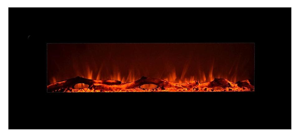 <p>This <span>Touchstone Onyx Electric Fireplace</span> ($299) can be easily mounted onto any wall. </p>