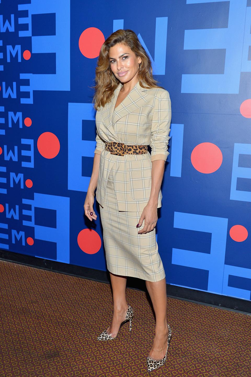 Eva Mendes attends Eva Mendes for New York & Company Fall Holiday 2018 Fashion Show at The Palace Theatre on September 13, 2018 in Los Angeles, California. (Photo: Donato Sardella via Getty Images)