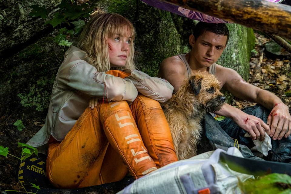 Tom Holland (right) and Daisy Ridley in Chaos Walking. (Photo: Encore Films)