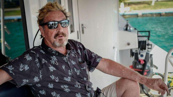 PHOTO: Millionaire John McAfee gestures during an interview with AFP on his yacht anchored at the Marina Hemingway in Havana, July 4, 2019. (Adalberto Roque/AFP via Getty Images, FILE)