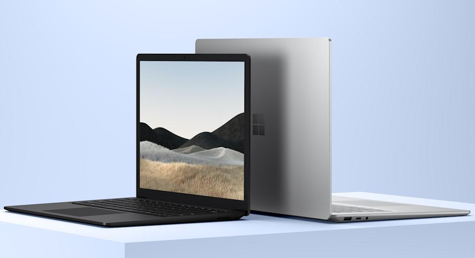 Microsoft's Surface Laptop 4 comes in two sizes, 13.5 inches, and 15 inches. (Image: Microsoft)