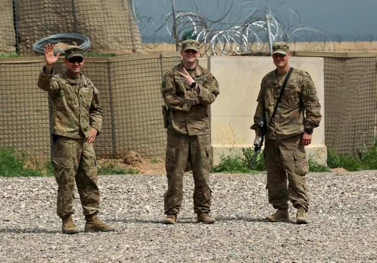 US soldiers at Qayyarah air base, where US-led troops in 2017 had helped Iraqis plan out the fight against the Islamic State in nearby Mosul in northern Iraq