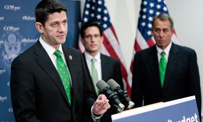 Which storyline will prevail — that Paul Ryan's spending plan balances the budget, or voucherizes Medicare?