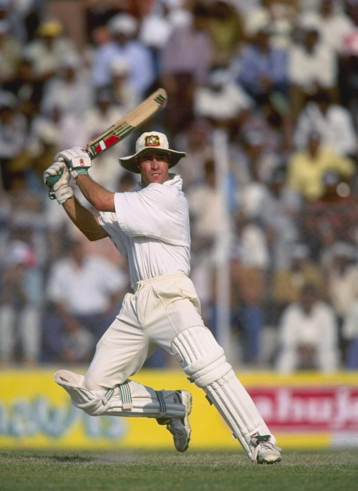 Oct 1996:  Michael Bevan of Australia batting during the test match between India and Australia in Dehli, India. Mandatory Credit: Clive Mason/Allsport