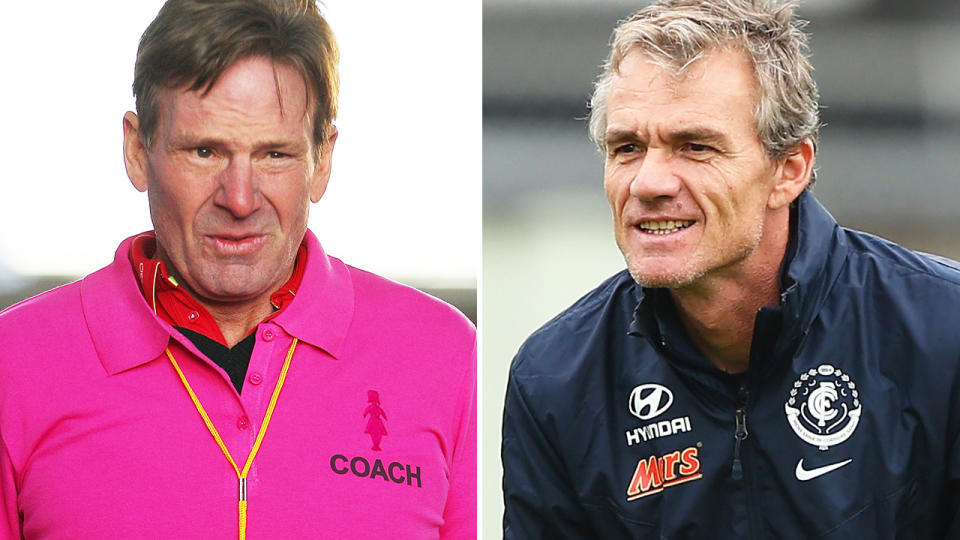 Sam Newman and Dean Laidley, pictured here in previous years.