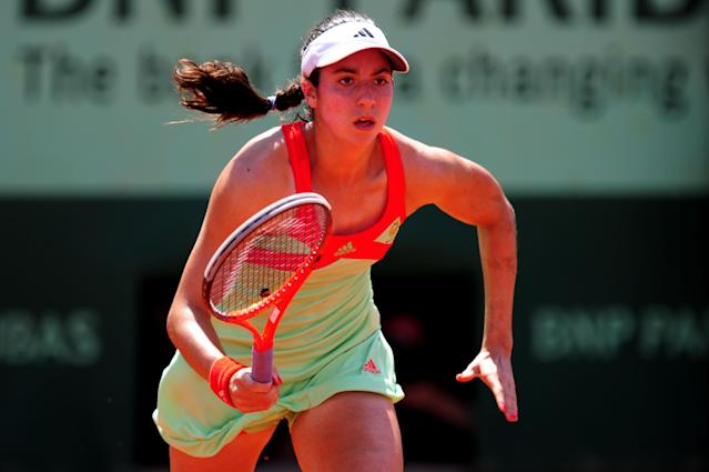 PARIS, FRANCE - JUNE 02: Christina Mchale of USA runs for the ball in her women's singles third round match against Na Li of China during day 7 of the French Open at Roland Garros on June 2, 2012 in Paris, France. (Photo by Mike Hewitt/Getty Images)