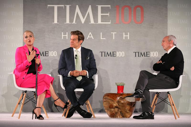 Actor Selma Blair, Dr. Mehmet Oz and Dr. David Agus (Photo by Brian Ach/Getty Images for TIME 100 Health Summit )