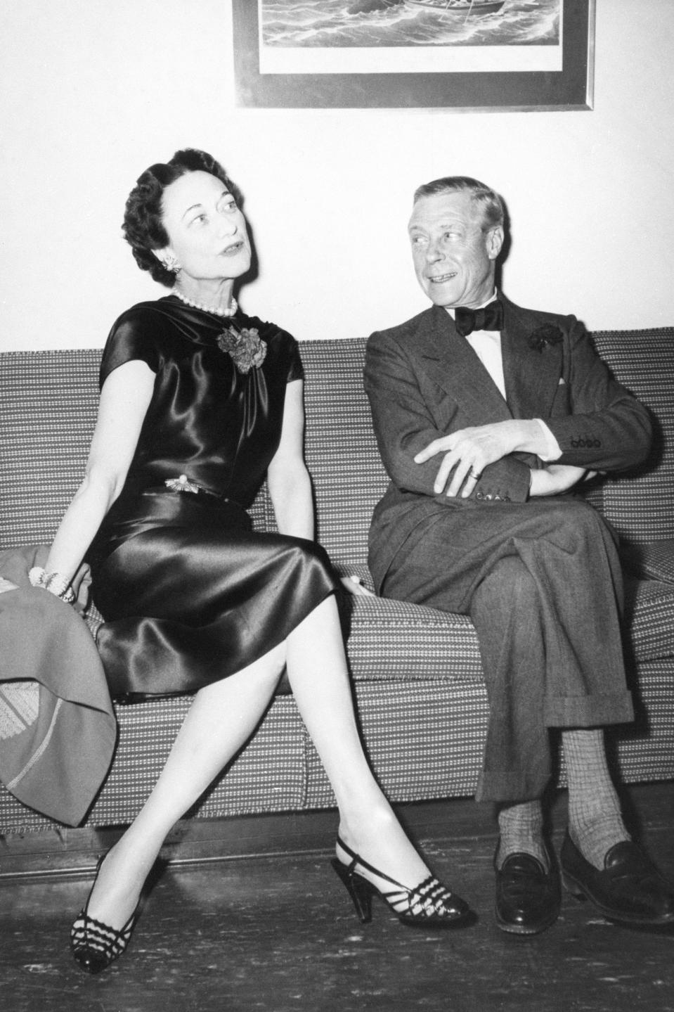 The Duke and Duchess of Windsor on  the 'United States' liner, which they boarded at Le Havre in France. They were on their way to spend Christmas with friends in America.