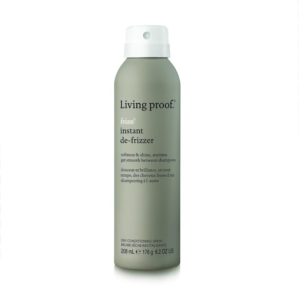 """<p>Living Proof has got a new addition to its beloved no frizz line. This spray-on <a href=""""https://www.allure.com/gallery/best-dry-conditioners?mbid=synd_yahoo_rss"""">dry conditioning spray</a> will help tame those stubborn hairs that won't lay down or get into formation. If you've got straighter hair, just spray and smooth down your hair with your hands or a comb. Those with curls should squeeze the section you sprayed for an easy way to tame some of your errant hairs.</p> <p>$29 (<a href=""""https://shop-links.co/1636360804233377709"""" rel=""""nofollow"""">Shop Now</a>)</p>"""