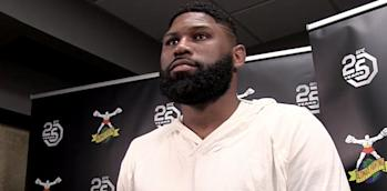 Curtis Blaydes UFC Denver Scrum