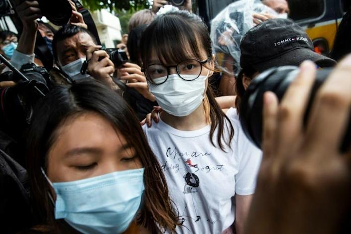 Chow, 24, was mobbed by waiting media but made no comment as she was driven away