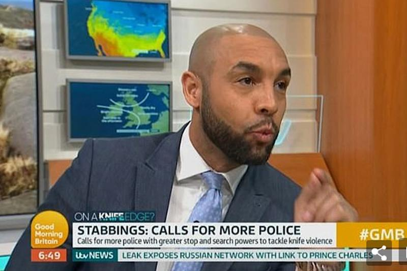 Weatherman Alex Beresford recenlty spoke out over knife crime in a speech on air (ITV)