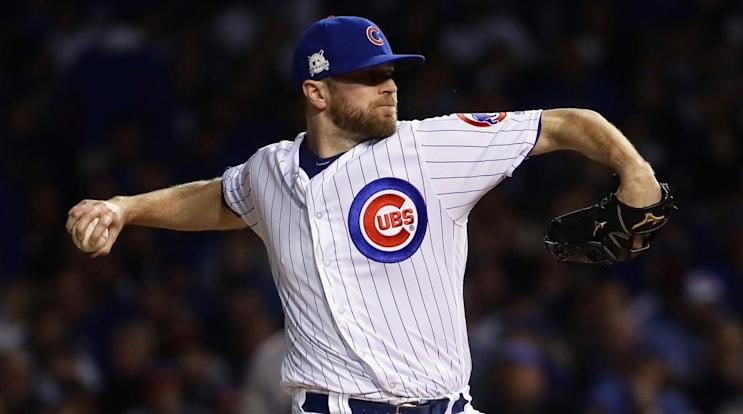 The Colorado Rockies and free-agent reliever Wade Davis have agreed to a three-year deal. (AP)