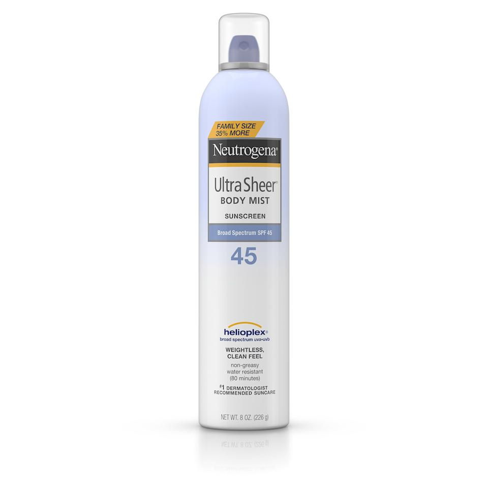 Spray sunscreen is something you can't easily buy in a travel size.