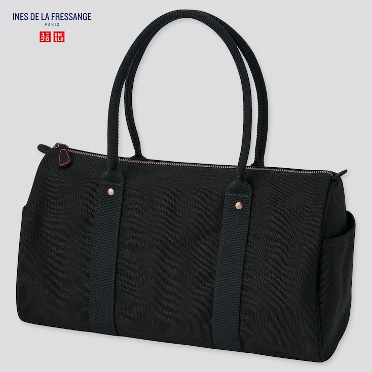 """<h2>Uniqlo Canvas Boston Bag</h2><br>This chic canvas duffle is under $20, and compact yet roomy enough to fit all of your essentials for a quick day trip or overnight stay. <br><br><em>Shop <strong><a href=""""https://www.uniqlo.com"""" rel=""""nofollow noopener"""" target=""""_blank"""" data-ylk=""""slk:Uniqlo"""" class=""""link rapid-noclick-resp"""">Uniqlo</a></strong></em><br><br><strong>Uniqlo</strong> Canvas Boston Bag (Ines De La Fressange), $, available at <a href=""""https://go.skimresources.com/?id=30283X879131&url=https%3A%2F%2Fwww.uniqlo.com%2Fus%2Fen%2Fwomen-canvas-boston-bag-ines-de-la-fressange-437584.html"""" rel=""""nofollow noopener"""" target=""""_blank"""" data-ylk=""""slk:Uniqlo"""" class=""""link rapid-noclick-resp"""">Uniqlo</a>"""