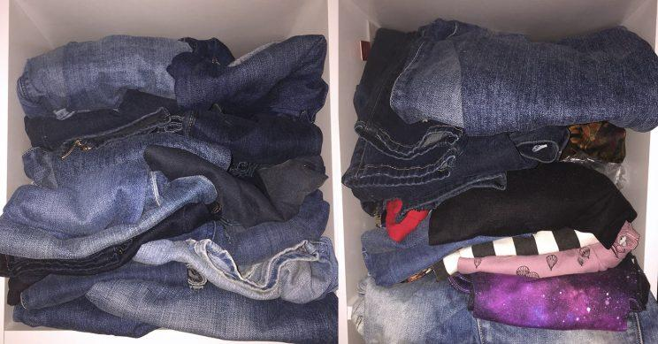 A look inside a few of the 400-plus jeans Lorna Burford owns.