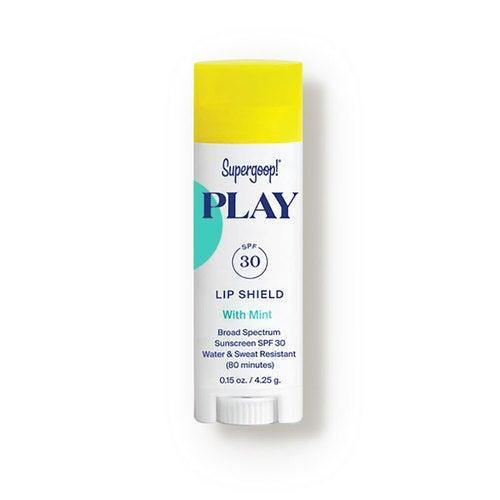 """<br><br><strong>Supergoop!</strong> PLAY Lip Shield SPF 30 Mint, $, available at <a href=""""https://go.skimresources.com/?id=30283X879131&url=https%3A%2F%2Fshop-links.co%2F1738887090865938268"""" rel=""""nofollow noopener"""" target=""""_blank"""" data-ylk=""""slk:DermStore"""" class=""""link rapid-noclick-resp"""">DermStore</a>"""