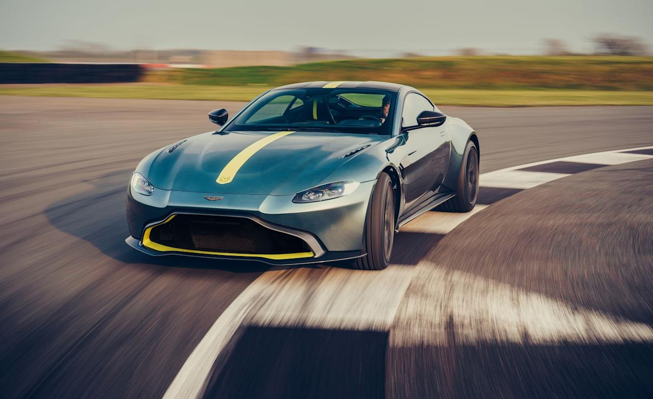 <p>Aston has revealed the Vantage AMR, and as we suspected, it uses a seven-speed manual transmission with a dogleg-style first gear.</p>