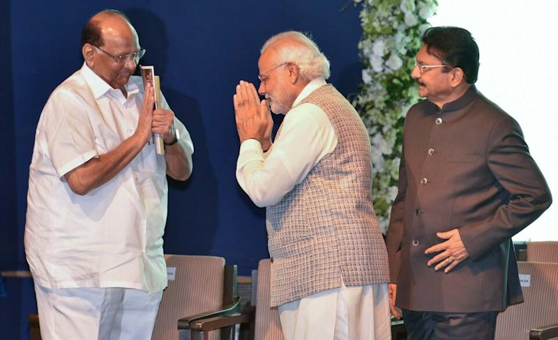 Rajya Sabha MP and veteran Maharashtra politician Sharad Pawar with Prime Minister Narendra Modi in a file photo from February 2016.
