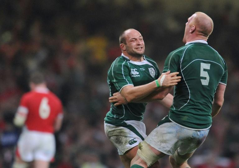 Rory Best (L) told AFP he is much more at ease with the Ireland captaincy after initially finding it intimidating having taken over from Paul O'Connell (R) after the 2015 World Cup