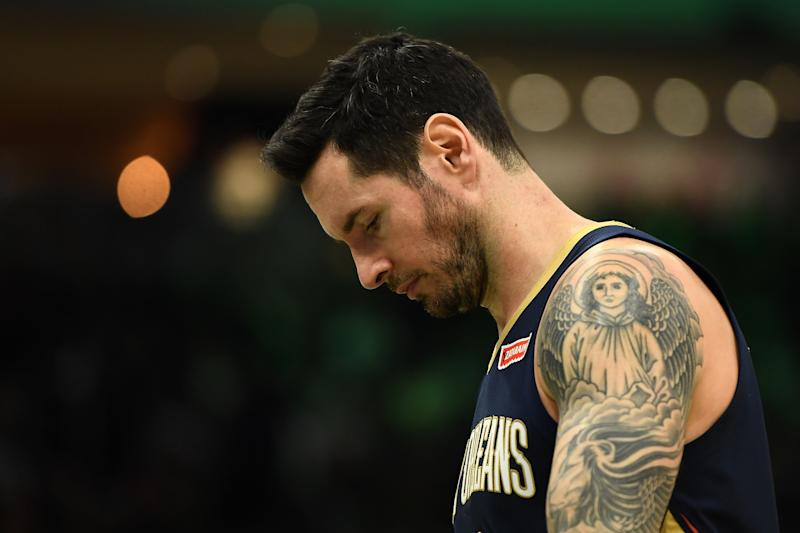 The Pelicans' poor play could make J.J. Redick expendable. (Stacy Revere/Getty Images)