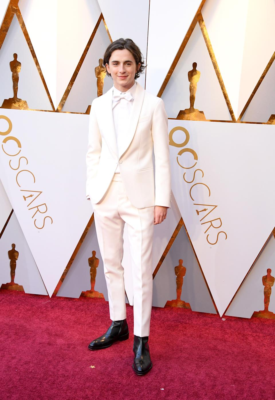 Wearing a custom Berluti tuxedo. <em>[Photo: Getty]</em>