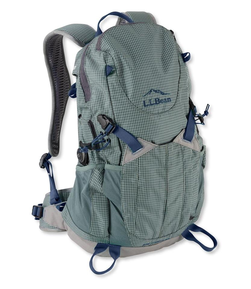 """<p><strong>L.L. Bean</strong></p><p>llbean.com</p><p><strong>$89.99</strong></p><p><a href=""""https://go.redirectingat.com?id=74968X1596630&url=https%3A%2F%2Fwww.llbean.com%2Fllb%2Fshop%2F112873%3Fpage%3Dday-trekker-day-pack%26bc%3D32-305%26feat%3D305-GN1%26csp%3Ds&sref=http%3A%2F%2Fwww.popularmechanics.com%2Fadventure%2Foutdoor-gear%2Fg28784515%2Fll-bean-sale%2F"""" target=""""_blank"""">Buy Now</a></p><p>If you have some fall hiking adventures planned this season, this backpack is perfect for storing your essentials, including a first aid kit, water bottles, snacks, and a change of clothes. In fact, it's equipped with two side water bottle pockets, a key fob, map pocket, and larger pocket for easy access to hiking must-haves. It also has a built-in hydration sleeve with a port inside the main compartment. Also available in a <a href=""""https://www.llbean.com/llb/shop/113121?page=women-s-day-trekker-day-pack&bc=32-305-511658&feat=511658-GN3&csp=s&attrValue_0=Balsam"""" target=""""_blank"""">women's version</a>, the pack is designed to curve around your shoulders and taper along your back to help relieve pressure in these areas. </p>"""
