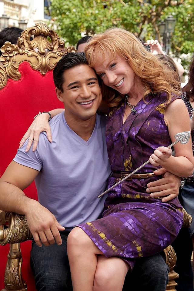 """Of course, the bawdy redhead wasn't about to let an opportunity to flirt with Mario pass her by! """"Now I'm the King!"""" the former """"Saved by the Bell"""" hunk posted on Twitter. """"She's hilarious."""" Noel Vasquez/<a href=""""http://www.gettyimages.com/"""" target=""""new"""">GettyImages.com</a> - April 25, 2011"""