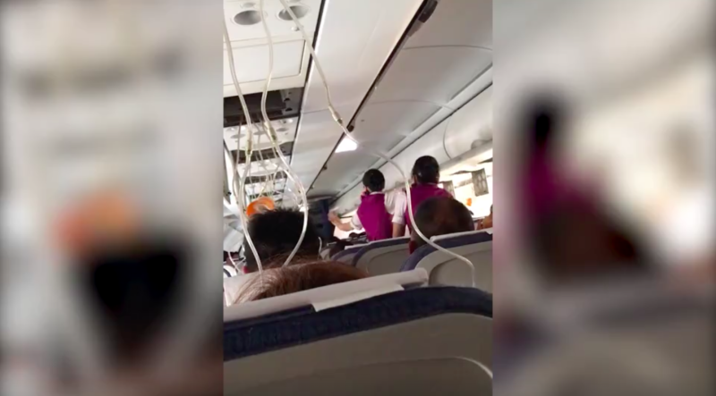 Co-pilot almost sucked through cockpit window after it shatters and falls out