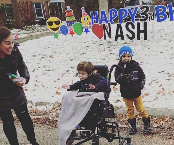 PHOTO: At 11 months old, Nash Stineman was diagnosed with spinal muscular atrophy with respiratory distress (SMARD), which causes muscle weakness and difficulty breathing. (Mindy Abern)