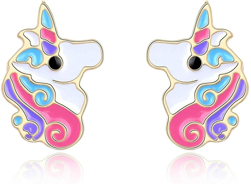 <p>These <span>Unicorn Earrings</span> ($13) are so youthful.</p>