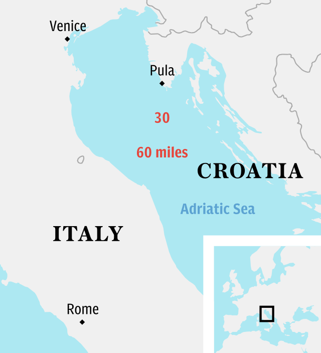 British woman rescued from Adriatic Sea
