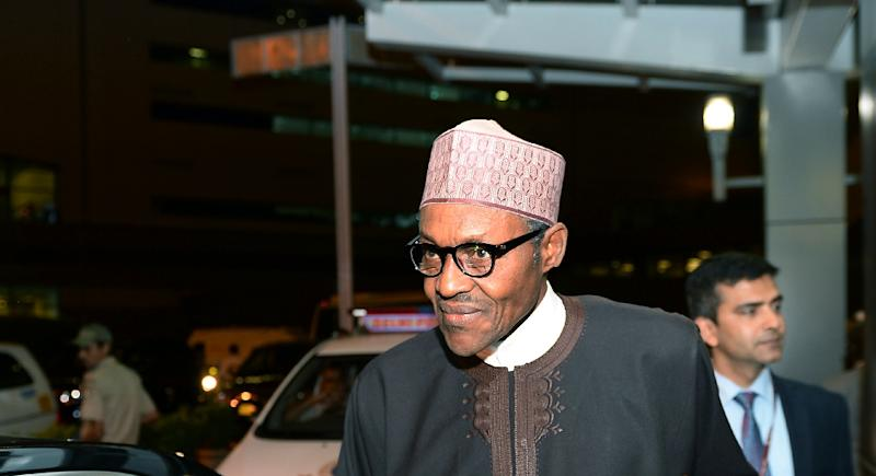 Nigeria's President Muhammadu Buhari, photographed at a New Delhi summit on October 27, 2015, is facing calls to end a petroleum-subsidy program that keeps pump prices low but is said to be riddled with corruption (AFP Photo/Sajjad Hussain)