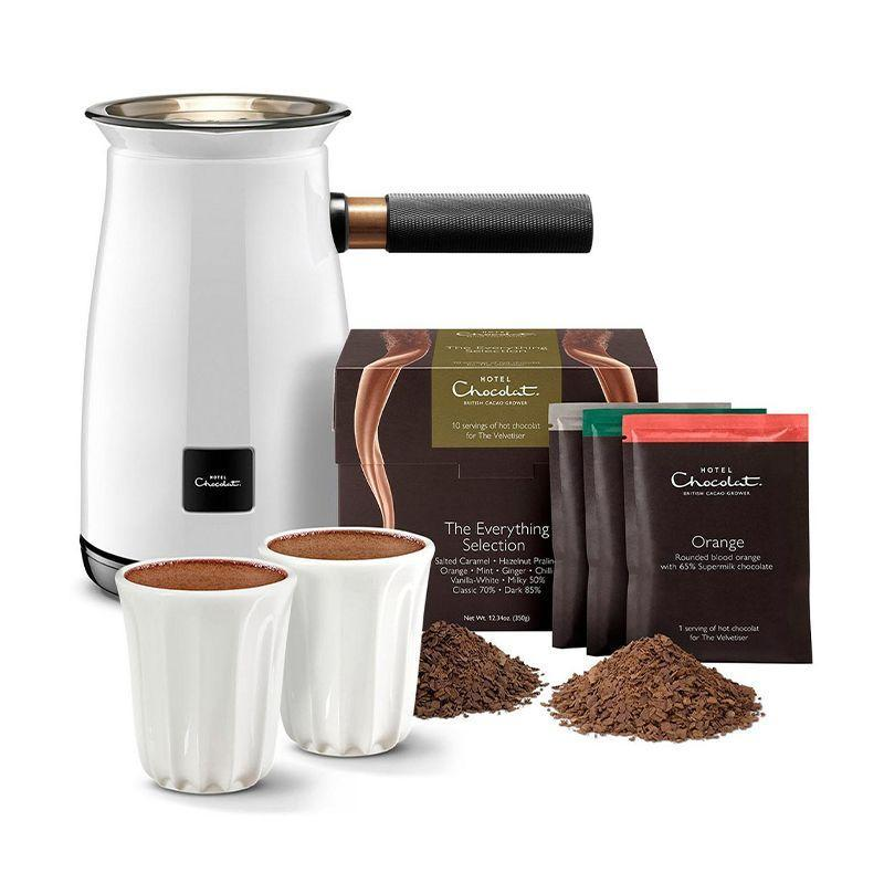 """<p><a class=""""link rapid-noclick-resp"""" href=""""https://go.skimresources.com?id=127X678080&xs=1&url=https%3A%2F%2Fwww.hotelchocolat.com%2Fuk%2Fvelvetiser-hot-chocolate-maker.html%23shownresults%3D24%26backpid%3Dvelvetiser-hot-chocolate-maker%26start%3D3"""" rel=""""nofollow noopener"""" target=""""_blank"""" data-ylk=""""slk:SHOP"""">SHOP</a></p><p>A hot chocolate maker sounds like something you don't really need, but my, would you be wrong. It's easy to use, clean and makes, as you might expect, an amazing hot chocolate. Need we say anything else?</p><p>£110 including sachets and cups, Hotel Chocolat</p>"""